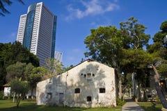 Tel Aviv vieja y nueva Imagen de archivo libre de regalías