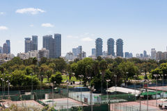 Tel Aviv view from Eretz Israel Museum Stock Photo