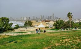 Tel Aviv view from Old Jaffa royalty free stock photo
