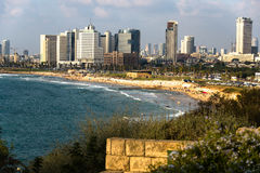 Tel Aviv vio de Jaffa Fotos de archivo