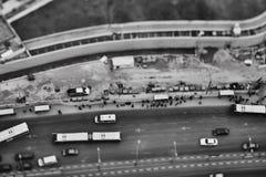 Tel Aviv - 10 06 2017: Vista aerea sulle strade e sul propert di Tel Aviv Fotografia Stock