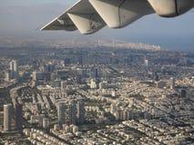 Tel Aviv von der Luft Stockbild