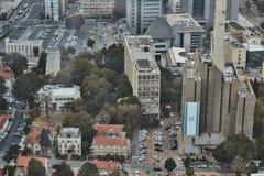 Tel Aviv - 10 06 2017 : Vue aérienne sur les routes et le propert de Tel Aviv Image libre de droits