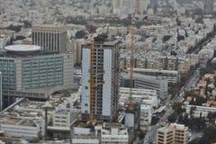 Tel Aviv - 10 06 2017 : Vue aérienne sur les routes et le propert de Tel Aviv Photos libres de droits