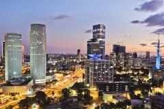Tel Aviv y skycrapper fotografía de archivo libre de regalías