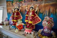 Tel Aviv - 10 05 2017: Zajęcza Krishna Gaura Nitay forma bóg na a Fotografia Stock