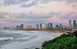 Tel-Avive sea shore Stock Images