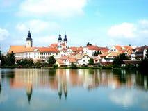 Telč city royalty free stock photo