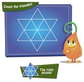 Tel de driehoeken Stock Afbeeldingen