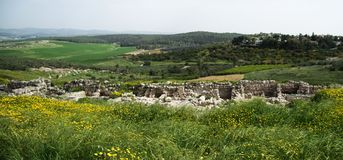 Tel Gezer achaeology Stock Photos