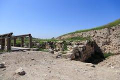 Tel. Gezer. Israël stock afbeelding