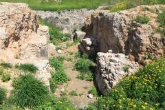 Tel. Gezer .israel stock afbeeldingen