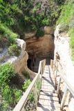Tel. Gezer. Tunnel voor waterproductie. Israël Royalty-vrije Stock Foto