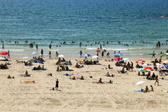 Lato przy plażą w tel obrazy royalty free