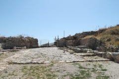 Tel Lachish废墟 免版税库存图片