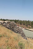 Tel Lachish Walls Ruins Royalty Free Stock Photography
