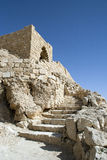 Tel Maresha Israel. Stairway to Tel Maresha an ancient, excavated Jewish city Stock Photography