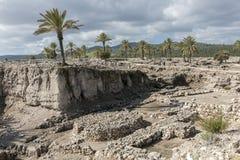 Tel. Megiddo stock afbeeldingen