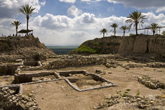 Tel Megiddo. In ancient times Megiddo was an important city state. It is also known alternatively as Tel Megiddo (Hebrew) and Tell al-Mutesellim (Arabic Stock Photo
