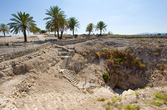 Tel Megiddo National park Royalty Free Stock Images
