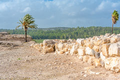 Tel Megiddo ruins Stock Photo