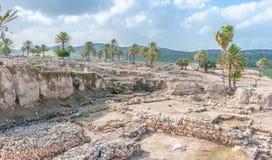 Tel Megiddo ruins Stock Image