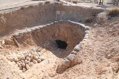 Tel Sheva Piwne ruiny, Izrael Obrazy Royalty Free