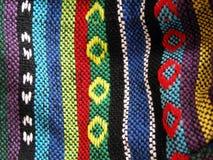 Tela étnica tejida, cierre para arriba imagen de archivo libre de regalías