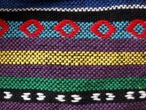 Tela étnica tejida, cierre para arriba Foto de archivo libre de regalías