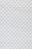 Tela acolchada blanco Fotografía de archivo libre de regalías