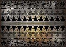 Tela africana da c?pia, ornamento feito a m?o ?tnico velho para seus elementos geom?tricos do projeto, os ?tnicos e os tribais do ilustração royalty free