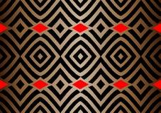 Tela africana de la impresión, ornamento hecho a mano étnico para su diseño, elementos geométricos de los adornos tribales del mo ilustración del vector
