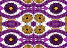 Tela africana de la impresión, ornamento hecho a mano étnico para sus elementos geométricos del diseño, étnicos y tribales de los Imagenes de archivo