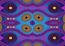 Tela africana de la impresión, ornamento hecho a mano étnico para sus elementos geométricos del diseño, étnicos y tribales de los Fotografía de archivo libre de regalías