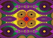 Tela africana de la impresión, ornamento hecho a mano étnico para sus elementos geométricos del diseño, étnicos y tribales de los Fotografía de archivo