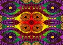 Tela africana de la impresión, ornamento hecho a mano étnico para sus elementos geométricos del diseño, étnicos y tribales de los Imagen de archivo