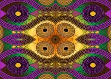 Tela africana de la impresión, ornamento hecho a mano étnico para sus elementos geométricos del diseño, étnicos y tribales de los Fotos de archivo libres de regalías