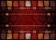 Tela africana de la impresi?n, ornamento hecho a mano ?tnico viejo para sus elementos geom?tricos del dise?o, ?tnicos y tribales  stock de ilustración