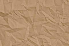 Tela arrugada marrón clara para el fondo Imagen de archivo libre de regalías