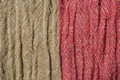 Tela arrugada tejida en dos colores Imagenes de archivo