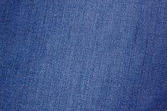 Tela azul da sarja de Nimes Fotos de Stock Royalty Free