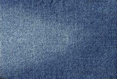 Tela azul de brim Fotografia de Stock