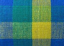 Tela azul de la tela escocesa Foto de archivo