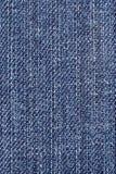 Tela azul del dril de algodón. Fotografía de archivo