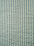 Tela azul del seersucker Fotos de archivo