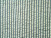 Tela azul del seersucker Fotos de archivo libres de regalías