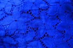 Tela azul eléctrica del cordón Imagenes de archivo