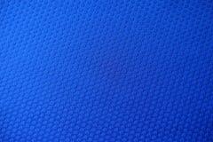 Tela azul eléctrica del telar jacquar desde arriba Fotos de archivo