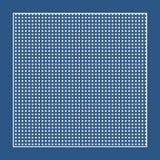 Tela azul quadriculado com círculos brancos e um quadro ilustração stock