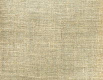 Tela bege da lona da textura Fundo natural de matéria têxtil Foto de Stock